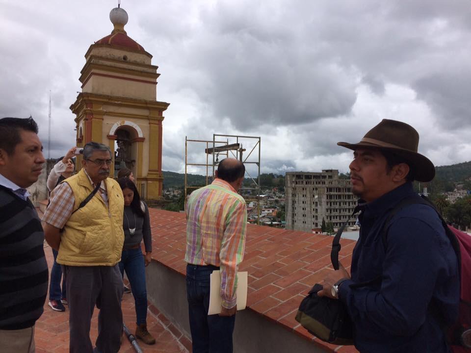 En Tlaxiaco restauran cúpulas de Parroquia